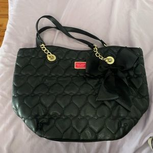 Betsey Johnson Quilted Hearts Bag.